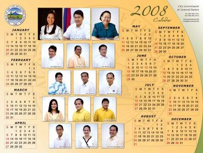 GenSan Officials Calendar 2008