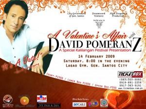 David Pomeranz Concert in GenSan Poster