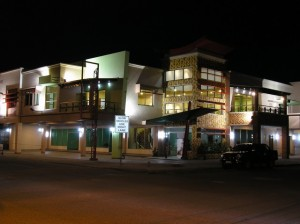 Pacquiao's JMP Building along South Osmena at night