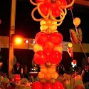 Balloon Tower as Table Centerpiece