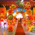 Red Carpet under Balloon Arches