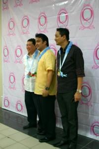 Senator Bong Revilla with Cong. Puentevella & Tonypet Albano