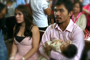 Jinky & Manny Pacquiao with Queenie