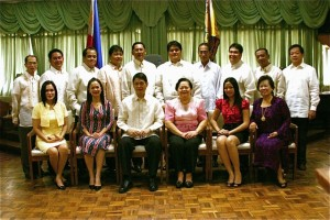 Mayor Acharon and the Councilors