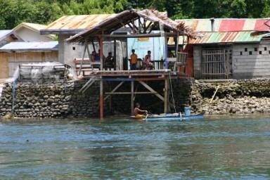Patuko Cove Eateries on stilts