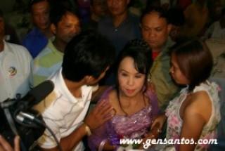 Manny escorting Dionisia Pacquiao