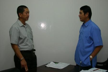 Former City Director Senior Supt Robert Po bids goodbye to Mayor Acharon
