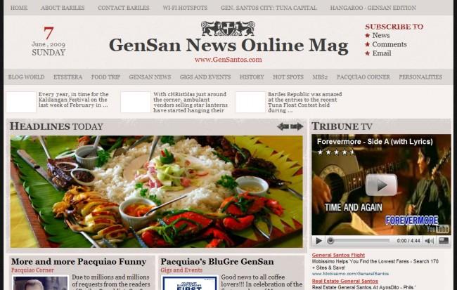New GenSan News Online Mag Screenshot