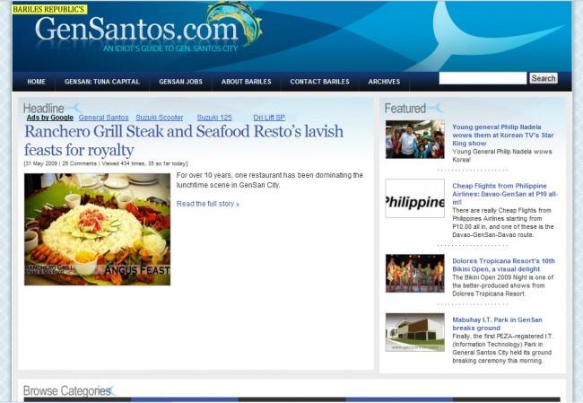 old GenSantos.com Screenshot