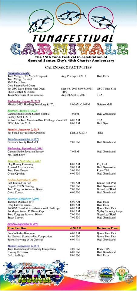 tuna festival 2013 schedule
