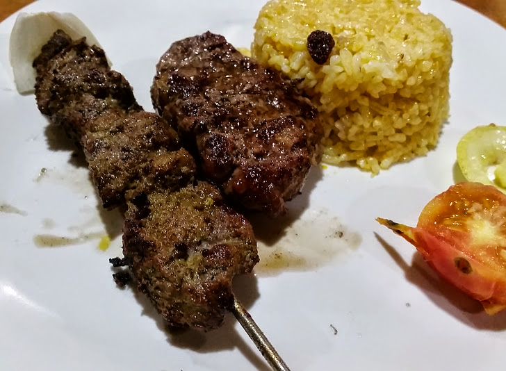 COMBO 3: Kofta Kebab and   Tika with Iraqi rice.