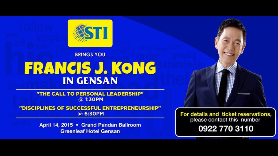Francis Kong in Gensan
