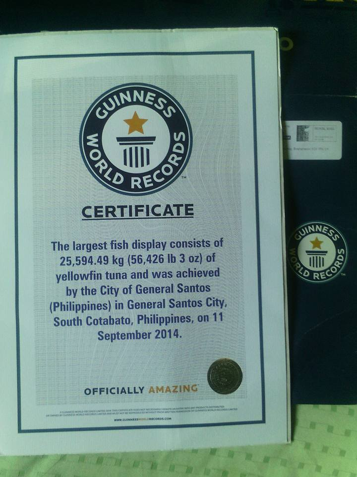 GUINNESS RECORD, LARGEST FISH DISPLAY, GENSAN