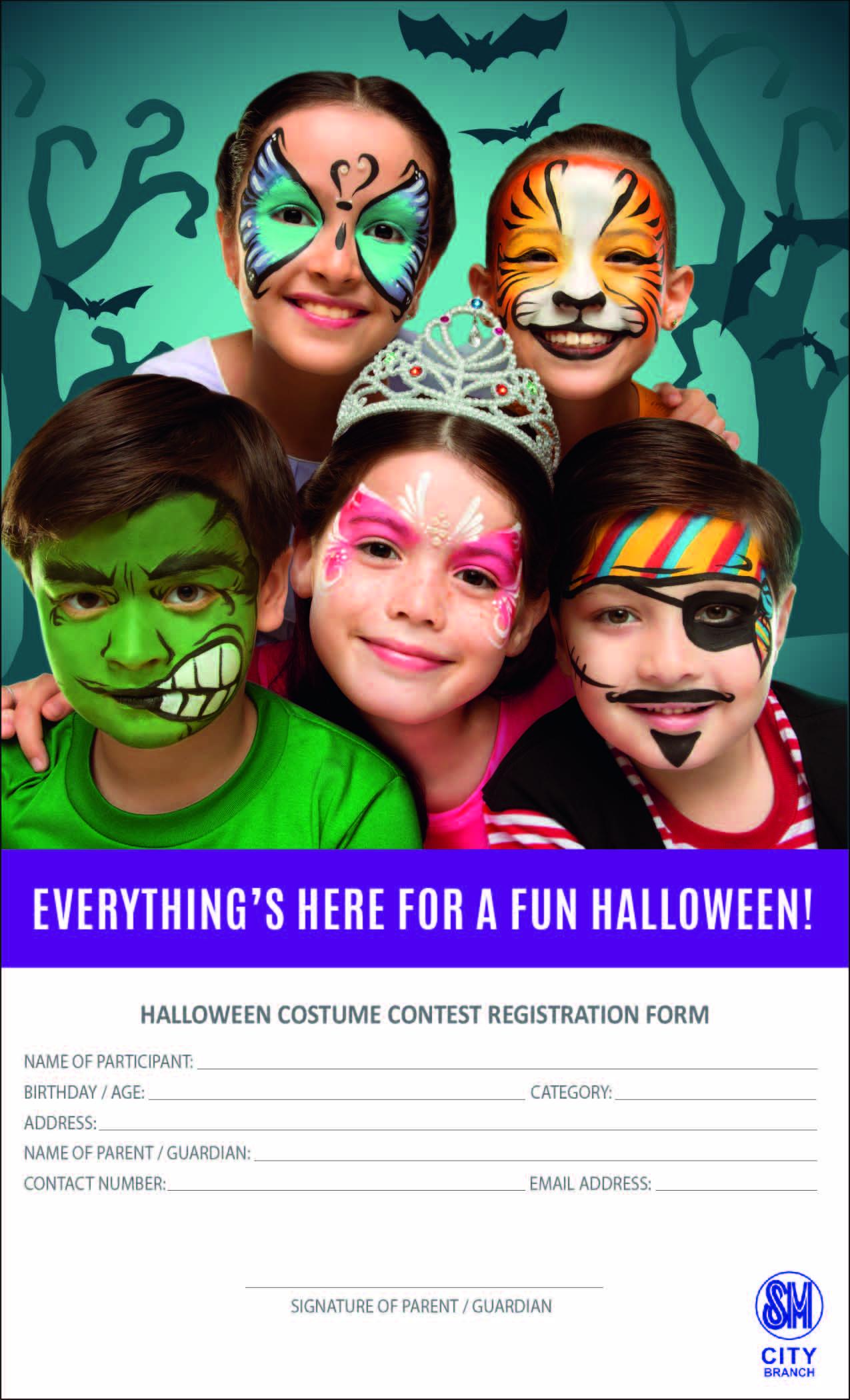 sm halloween registration form