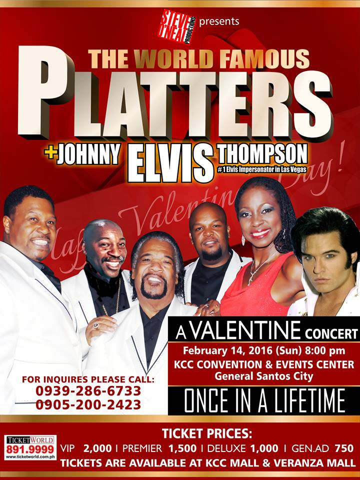Spend a romantic Valentine's with The World Famous Platters in Gensan
