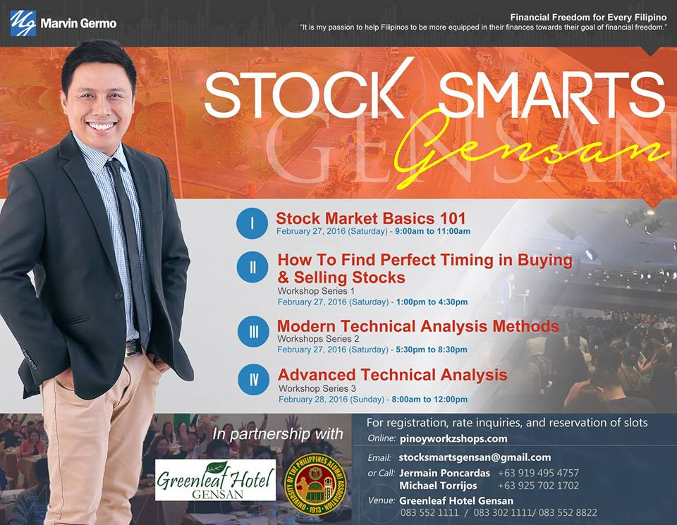 Learn about Stocks Investing & Trading @ Stocks Smarts Gensan! No need to fly to Manila!