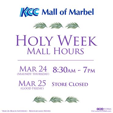 KCC MARBEL HOLY WEEK