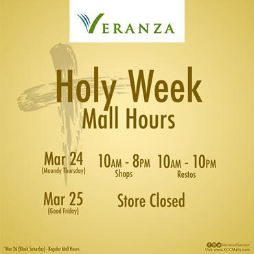 Veranza Holy Week Sked