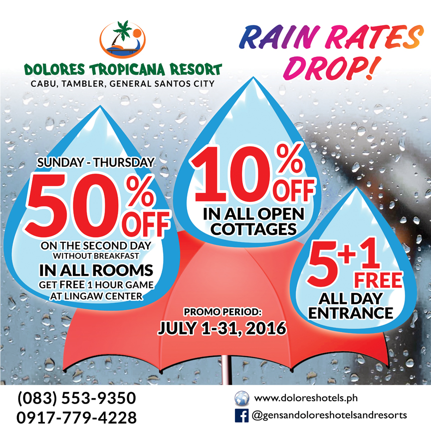 It's raining discounts & freebies at Dolores Hotels and Resorts!