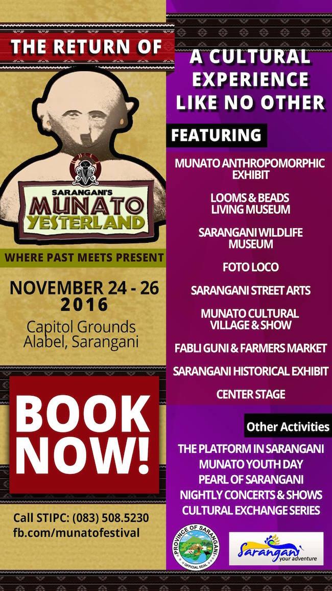 Sarangani's 24th Anniversary twinbills MunaTo Music & Arts Festival 2016 & MunaTo Yesterland Themepark