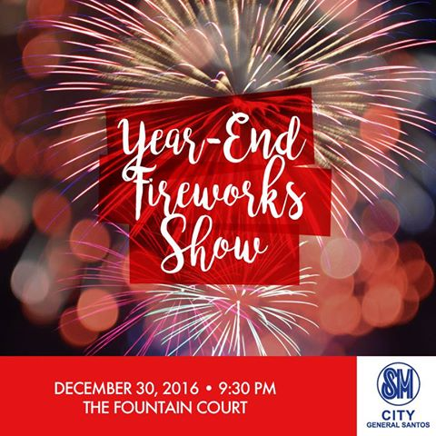 SM City General Santos ushers in 2017 with Year-end Fireworks Show & Party with International DJ's