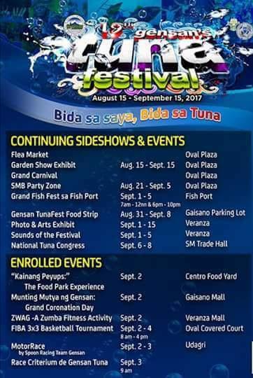 TunaFest 2017 Schedule