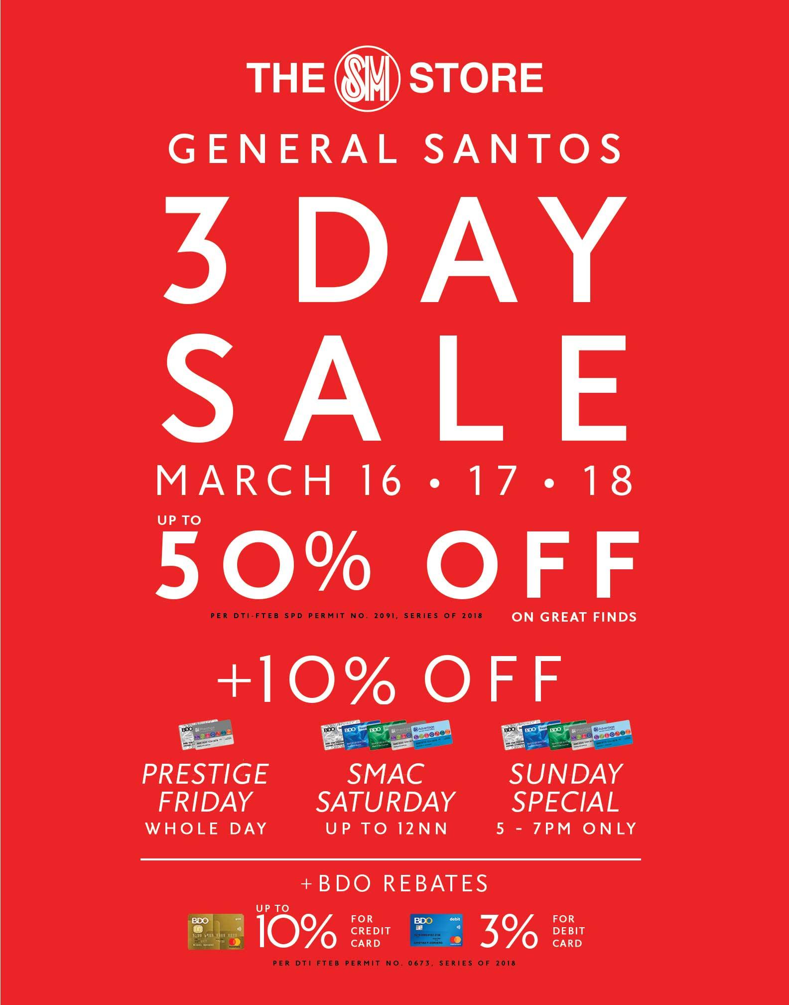 SM CITY GENSAN 3-DAY SALE (MARCH 2018)